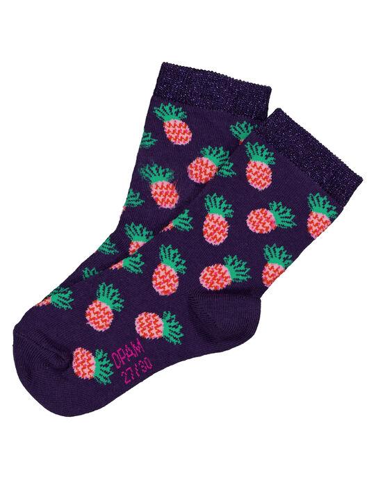 Chaussettes avec motifs ananas en lurex  GYAVIOCHO / 19WI01R1SOQ708