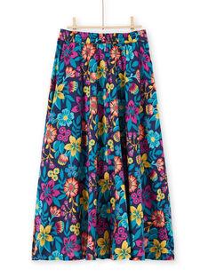 Jupe longue imprimé fleuri femme LAMUMJUP1 / 21S993Z1JUPC211