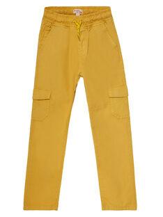 Pantalon maternel elastiqué avec poches cotés jaune JOJOPAMAT3 / 20S90251D2BB116