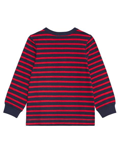 Tee shirt manches longues rayé enfant garçon KOJOTIRIB2 / 20W90231D32F518