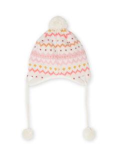 Bonnet maille motif faon bébé fille MYISAUBON1 / 21WI0954BON001