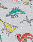 Tee shirt gris chiné manches longues enfant garçon. KORETEE1 / 20W902G3TML943