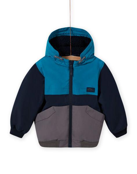 Blouson à capuche tricolore enfant garçon MOGROBLOU3 / 21W90252BLOC243