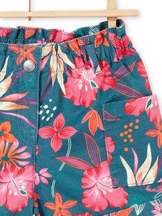Short à imprimé fleurs hawaïennes LABONSHORT3 / 21S901W1SHO716