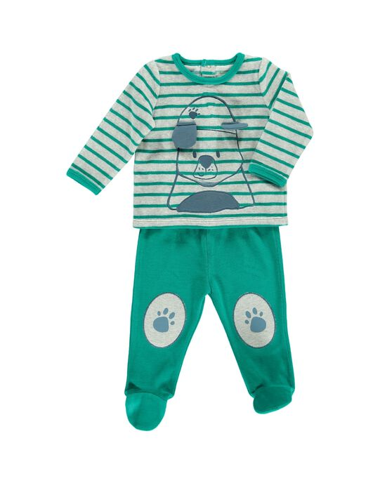 Pyjama en velours bébé garçon CEGUPYJDOG / 18SH1442PYJ099