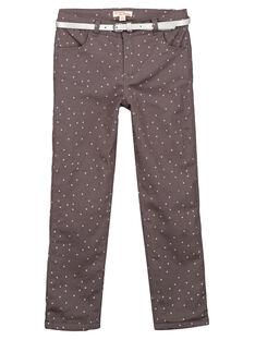 pantalon en satin doublé polaire  GABLAPANT2 / 19W901S1PANJ912
