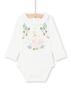 Body écru bébé fille MIKABOD / 21WG09I1BOD001