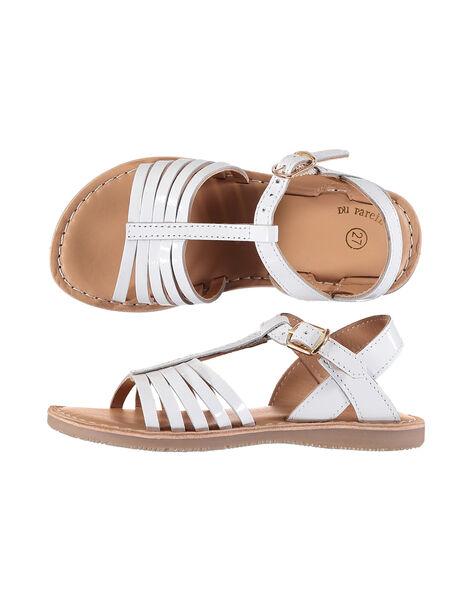 Sandale ville en cuir verni fille FFSANDOLI3 / 19SK35C8D0E000