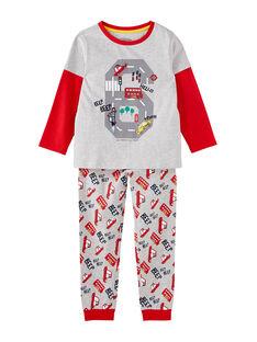 "Pyjama gris chiné ""londres"" enfant garçon JEGOPYJLON / 20SH12C5PYJ943"