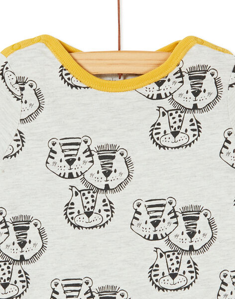Grenouillère courte layette garçon imprimé tigres KEGAGRETIG / 20WH14I1GREJ906