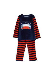 Pyjama en velours garçon FEGOPYJVOI / 19SH1241PYJ070