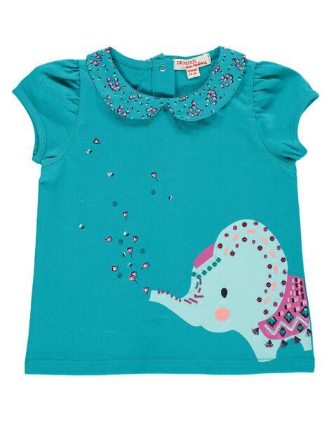 Tee-shirt manches courtes bébé fille CIDOUBRA / 18SG09J1BRA202