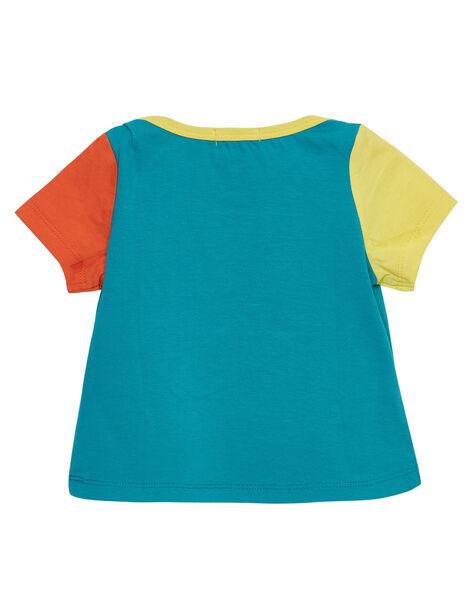 T-shirt manches courtes bleu motif toucan bébé garçon JUMARTI2 / 20SG10P1TMCC242