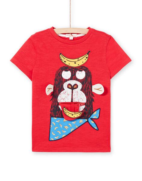 Tee Shirt Manches Courtes Rouge LOVITI3 / 21S902U3TMC505