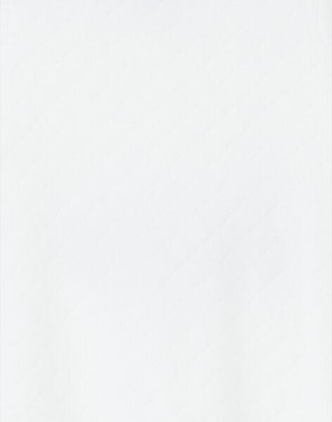Grenouillère blanche molletonnée imprimé animaux LOU1GRE4 / 21SF05H1GRE000