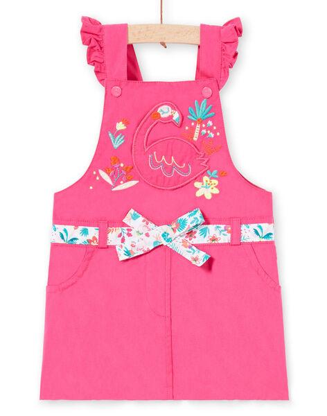 Robe salopette rose bébé fille LIBONROB1 / 21SG09W2ROB302