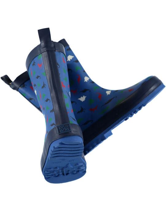 Botte de pluie bleu avec dinosaures enfant garçon GGBPDINO / 19WK36G1D0CC218