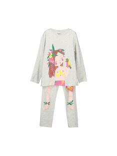 Pyjama en coton fille FEFAPYJTAH / 19SH1173PYG943