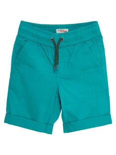 Bermuda garçon uni vert JOJOBERMU4 / 20S902T3D25630