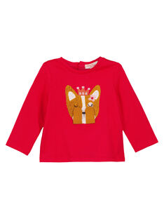 Tee Shirt Manches Longues Rouge GISANTEE2 / 19WG09C1TML050