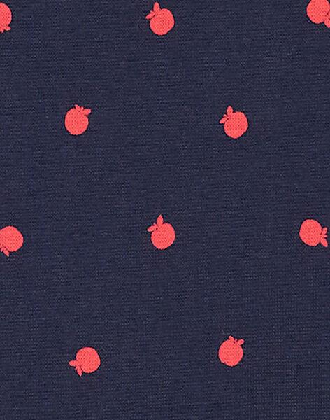Robe en milano, manches courtes, col claudine, imprimé pomme KAJOROB2 / 20W90134ROB070