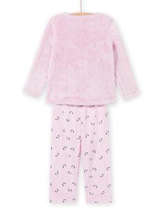 Ensemble pyjama rose motif panda en soft boa enfant fille MEFAPYJKAN / 21WH1191PYJ326