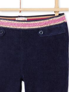 Pantalon milano bleu nuit enfant fille MAJOMIL2 / 21W90118PANC205