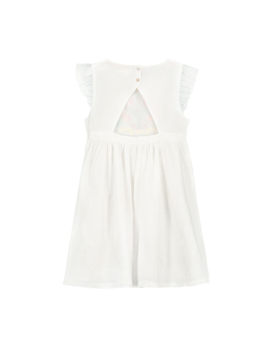 Robe blanche brodée fille FACAROB1 / 19S901D1ROB000