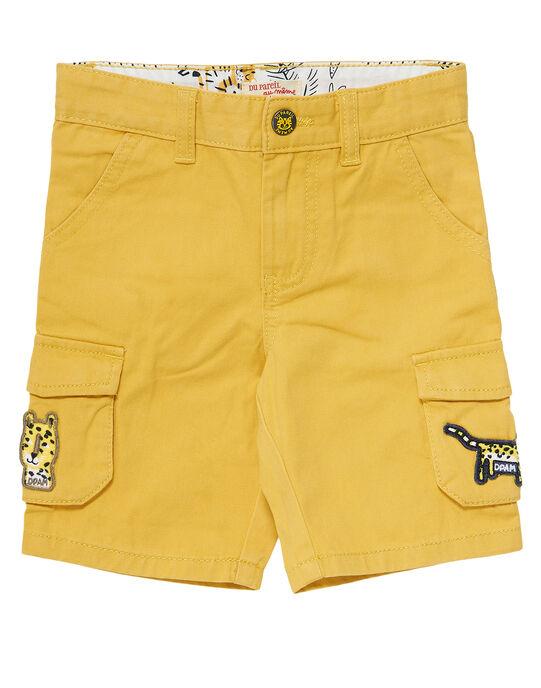 Bermuda garçon bleu jaune cargo JOTROBER2 / 20S902F2BERB116