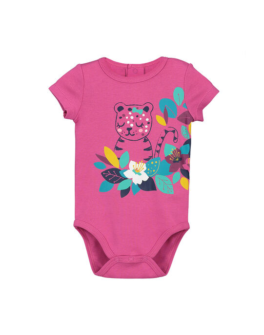 Body manches courtes bébé fille FEFIBODPAN / 19SH13I5BDL712