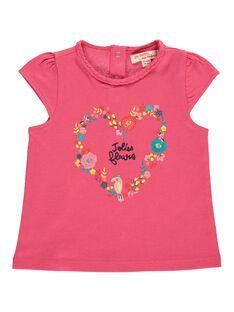 Tee-shirt manches courtes bébé fille CIFRITI / 18SG09H1TMCD312