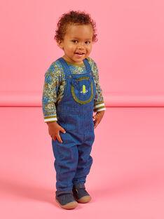 Salopette en jean à animation tête de lion bébé garçon MUKASAL / 21WG10I1SALP274