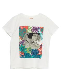 Tee shirt garçon écru dinosaure JOSAUTI3 / 20S902Q2TMC001