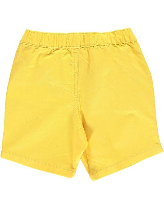 Bermuda jaune bébé garçon CUJOBER7 / 18SG10S1BER106