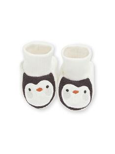 Chaussons tout doux naissance pingouin KOU2CHOS / 20WF4221CHP001