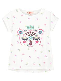 Tee-shirt manches courtes fille FATUTI4 / 19S901F4TMC000