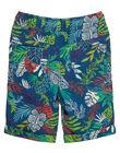 Bermuda élastiqué garçon turquoise imprimé jungle tropicale JOSAUBER2 / 20S902Q3BER707