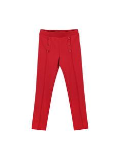 Pantalon maille milano rouge fille FAJOPANT3 / 19S90132D2B050