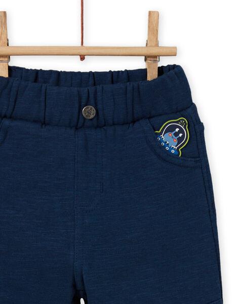 Pantalon bleu céleste à patch extraterrestre bébé garçon MUPLAPAN1 / 21WG10O1PANC204