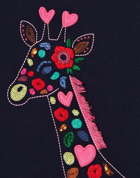 Sweat à manches longues, Girafe brodée et perlé KARESWEA / 20W901G1SWE070