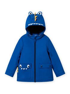 Imperméable bleu motif crocodile enfant garçon MOGROIMP2 / 21W90252D59217