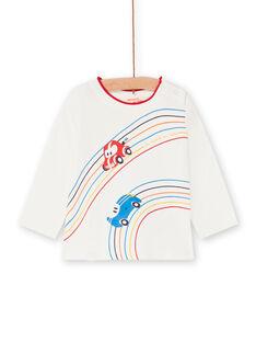 T-shirt écru motif voitures bébé garçon LUHATEE1 / 21SG10X2TML001