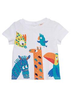 Tee Shirt Manches Courtes Blanc JUMARTI1 / 20SG10P2TMC000