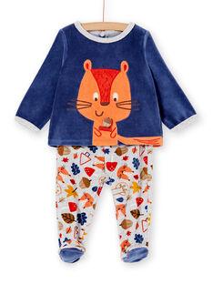 Pyjama layette garçon motif écureuil KEGAPYJECU / 20WH14C1PYJC221