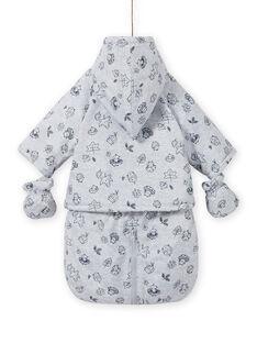 Combipilote imperméable gris imprimé fantaisie naissance mixte MOU1PIL1 / 21WF0541PILJ920