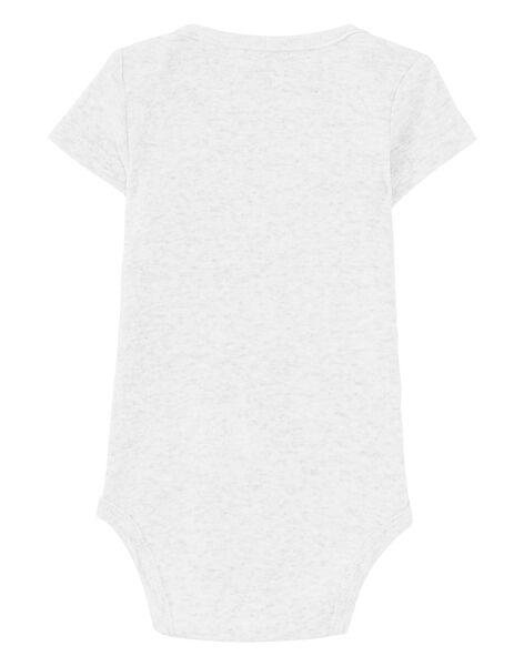 Body bébé garçon manches courtes gris chiné JEGABODSIN / 20SH14V6BDLJ906