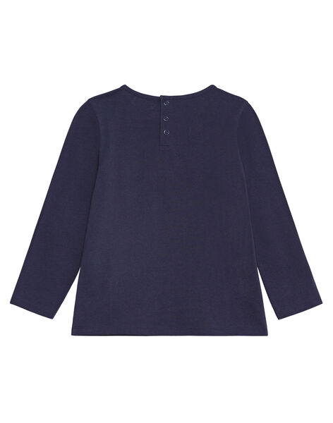 T-shirt manches longues marine, galon en dentelle KAJOSTEE1 / 20W90154D32070