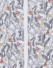 Grenouillère blanche imprimé jungle LOU1GRE2 / 21SF04H1GRE000
