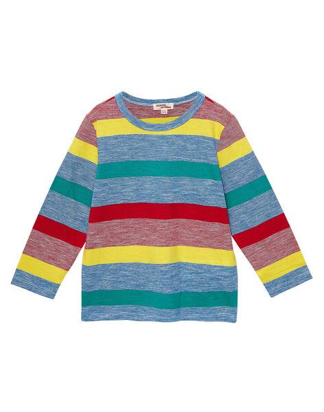 Tee shirt manches longues garçon rayé multicolore JOGRATEE1 / 20S902E2TMLC228