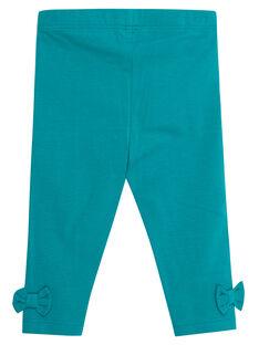 Legging bleu turquoise nœuds bébé fille JYIJOLEG4 / 20SI09T1D26621